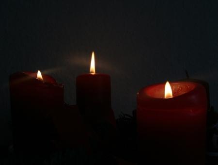 11. Dezember 2011 = 3. Advent und die dritte Kerze brennt