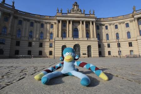 Affe an der Berliner Uni