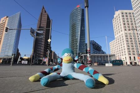 Affe am Potsdamer Platz