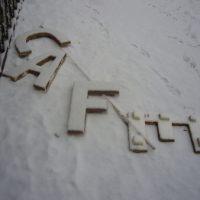 Berlin: Das Cafe im Schnee