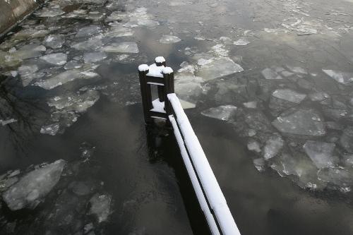 Eis auf der Spree in Berlin