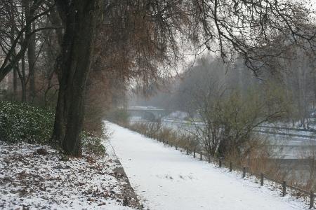 Berlin-Kreuzberg: Winterlicher Landwehrkanal
