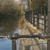 Das Ufer des Landwehrkanals in Berlin
