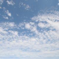 Himmelblau mit Wolken - Rügen 2010