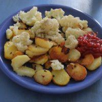 Bratkartoffeln mit Blumenkohl