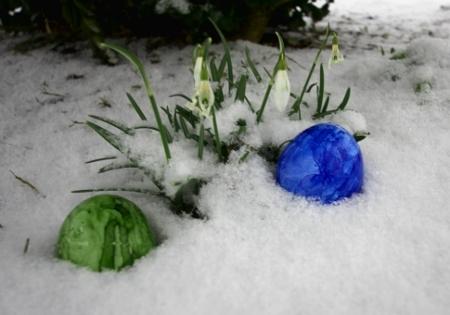 Frohe Ostern 2013 im Schnee
