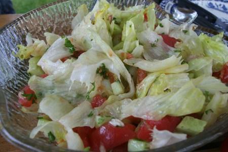 Gemischter Salat ohne Zwiebel