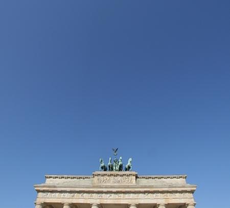 Himmel über dem Brandenburger Tor