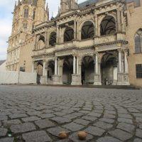 Kölner Rathaus mit Gesicht