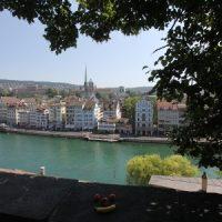 Das Gesicht auf dem Lindenhof in Zürich