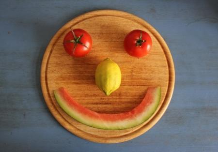 Lachender Melonenmund