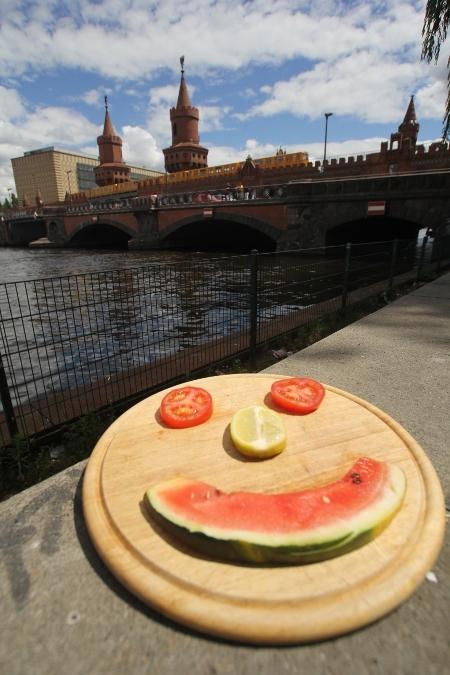 Das Gesicht vor der Oberbaumbrücke