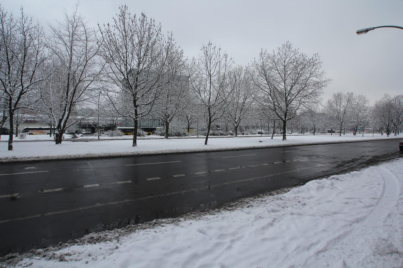 Der winterliche Ostbahnhof