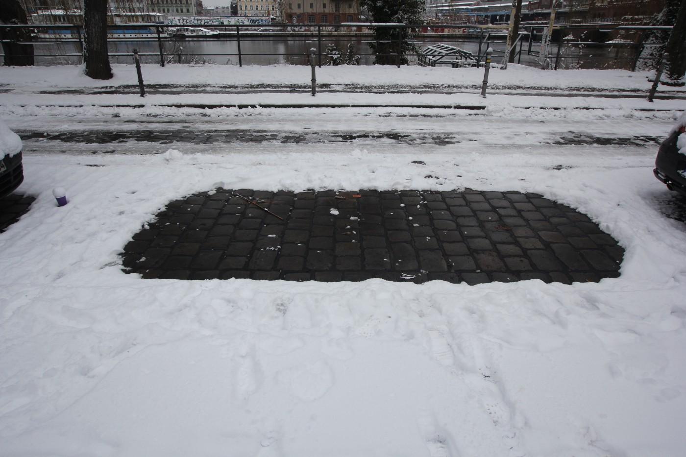 Winterparkplatz-Markierung