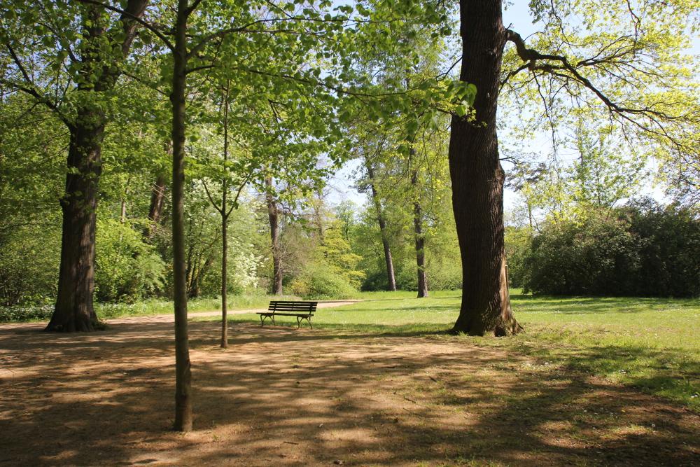 Ein Park in Quedlinburg