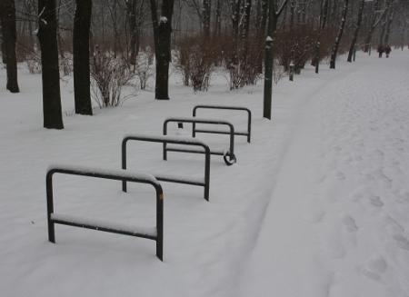 Kein Fahrrad im Schnee