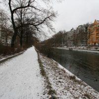Schnee in Berlin-Kreuzberg - Landwehrkanal
