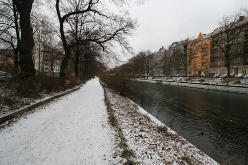Schnee am Berliner Landwehrkanal