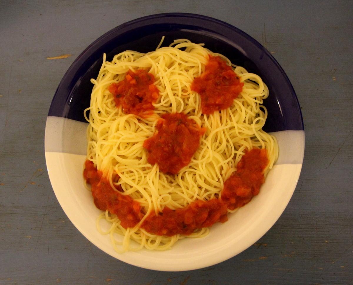 Spaghetti-Gesicht