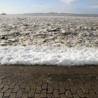 Foto von der Wesermündung in Bremerhaven
