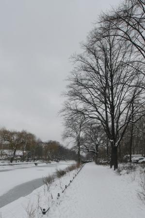Winterspaziergang am Kanal
