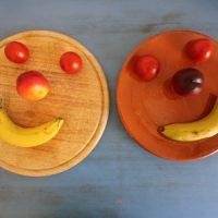 Zwei glückliche Gesichter
